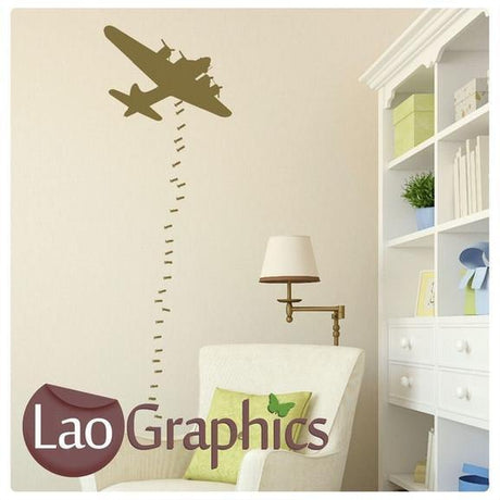 Carpet Bomber Military & Army Wall Stickers Home Decor Art Decals UK-LaoGraphics