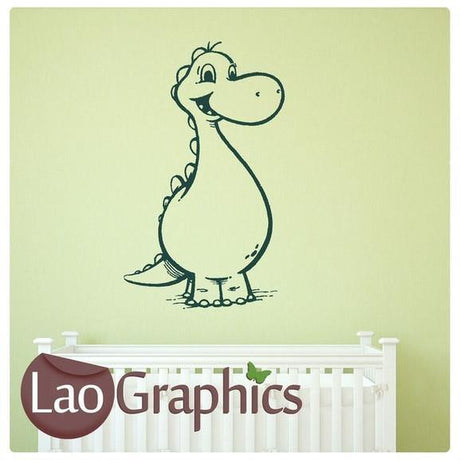 Cartoon Dinosaur Boys Bedroom Wall Stickers Home Decor Art Decals UK-LaoGraphics