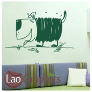 Cartoon Dog Canine Puppy Wall Stickers Home Decor Childrens Art Decals-LaoGraphics