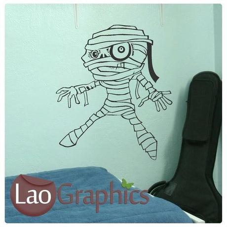 Cartoon Mummy Vinyl Transfer Wall Stickers Home Decor Boys Art Decals-LaoGraphics