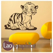 Cartoon Tiger Cub Wild Animals Kitty Wall Stickers Home Decor Art Decals-LaoGraphics