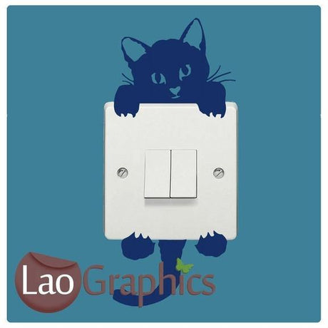 Cat#1 Light Switch Light Switch Art Decals Home Decor Cute Wall Stickers-LaoGraphics