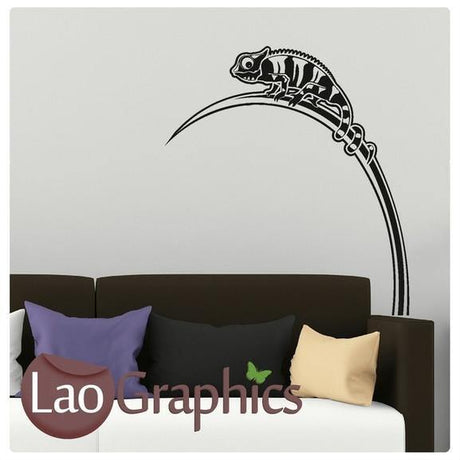 Chamelion Lizard Pet Shop Animals Wall Stickers Home Decor Art Decals-LaoGraphics