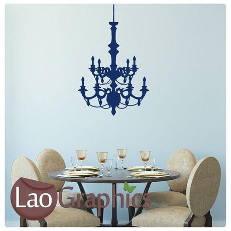 Chandelier #2 Lamp Wall Stickers Home Decor Lamp Art Decals Transfers-LaoGraphics