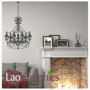 Chandelier Light Lamp Wall Stickers Home Decor Lamp Art Decal Transfer-LaoGraphics