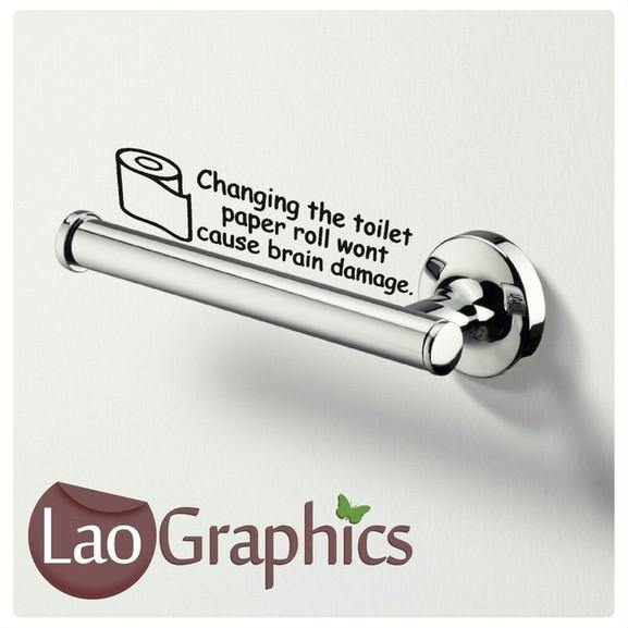 Change Toilet Paper Sticker Home Decor Art Decals-LaoGraphics