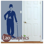Charlie Chaplain Wall Stickers (Full) Home Decor Celebrity Art Decals-LaoGraphics