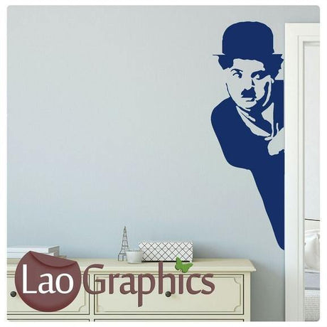 Charlie Chaplain Wall Stickers (Half) Home Decor Celebrity Art Decals-LaoGraphics