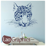 Cheetah Head Wild Animals Large Cat Wall Stickers Home Decor Art Decal-LaoGraphics