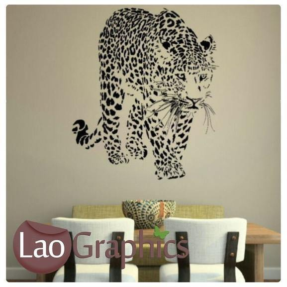 Cheetah Wild Animals Big Cat Wall Stickers Home Decor