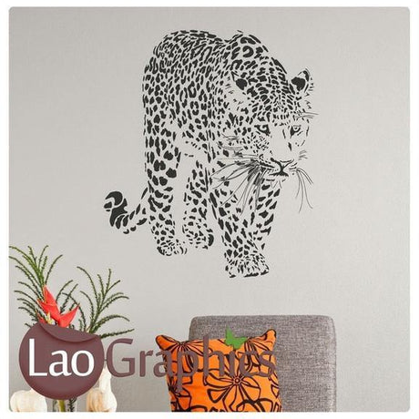 Cheetah Wild Animals Big Cat Wall Stickers Home Decor Large Art Decals-LaoGraphics