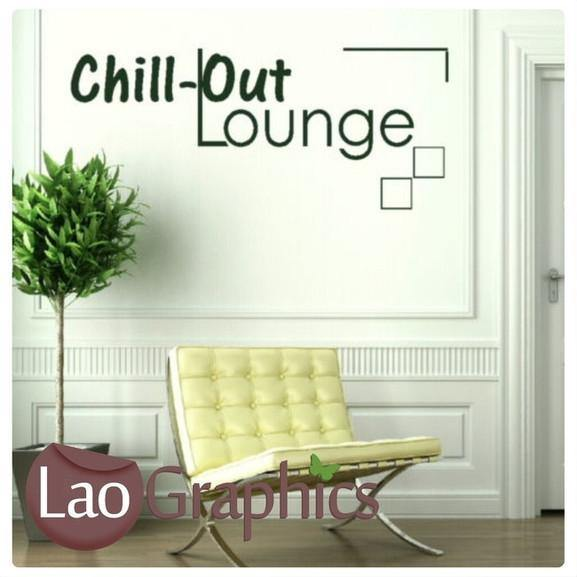 Chillout Lounge Quotes U0026 Words Wall Stickers Vinyl Lettering Art Decals  LaoGraphics Part 60