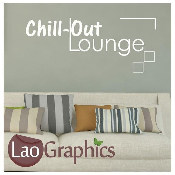 Chillout Lounge Quotes U0026 Words Wall Stickers Vinyl Lettering Art Decals  LaoGraphics Part 58