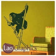 Chimpanzee Primate Wall Stickers Home Decor Mammal Art Decal Transfers-LaoGraphics