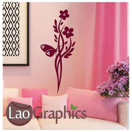 Chinese Flower Modern Interior Wall Stickers Home Decor Art Decals UK-LaoGraphics