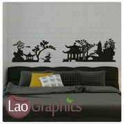 Chinese / Oriental Skyline Asian Korean Wall Stickers Home Decor Art Decals-LaoGraphics