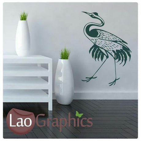 Chinese Style Bird Asian Korean Wall Stickers Home Decor Art Decals UK-LaoGraphics