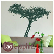Chinese Style Tree Asian Korean Wall Stickers Home Decor Art Decals UK-LaoGraphics
