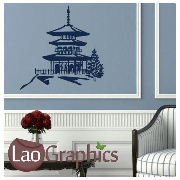 chinese temple asian korean wall stickers home decor art decals