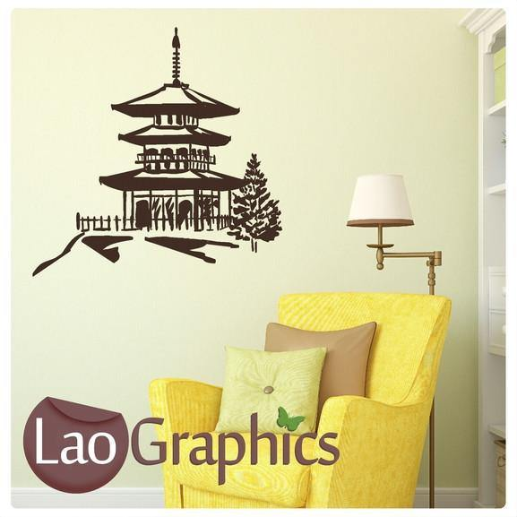 Chinese Temple Asian Korean Wall Stickers Home Decor Art Decals ...