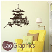 Chinese Temple Asian Korean Wall Stickers Home Decor Art Decals-LaoGraphics
