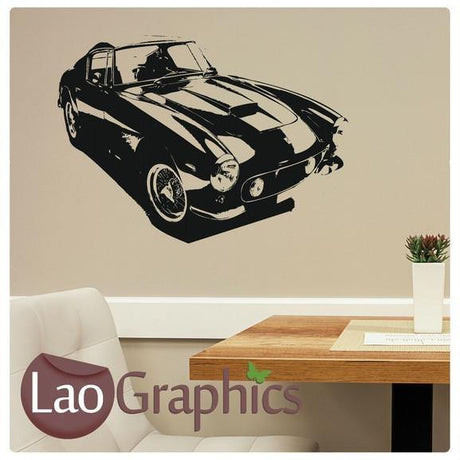 Classic Car Vehicle Transport Wall Stickers Home Decor Boys Art Decals-LaoGraphics