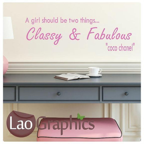 Classy & Fabulous Inspiring Quote Wall Stickers Home Decor Art Decals-LaoGraphics