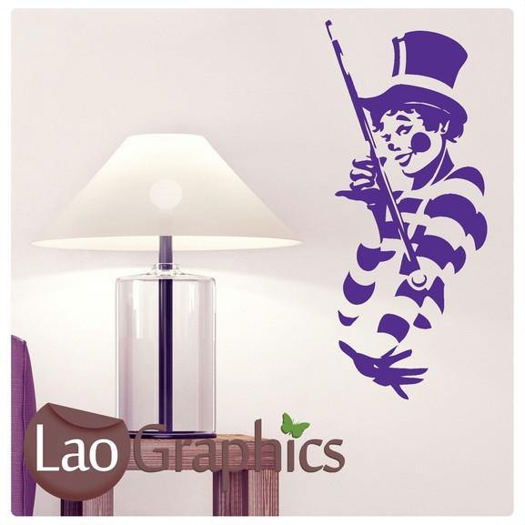 Clown Vinyl Transfer Wall Stickers Home Decor Large Circus Art Decals-LaoGraphics