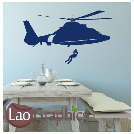 Coast Guard Vinyl Transfer Wall Stickers Home Decor Art Decal Transfer-LaoGraphics