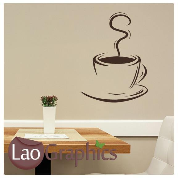 coffee cup large kitchen wall stickers home decor art decal
