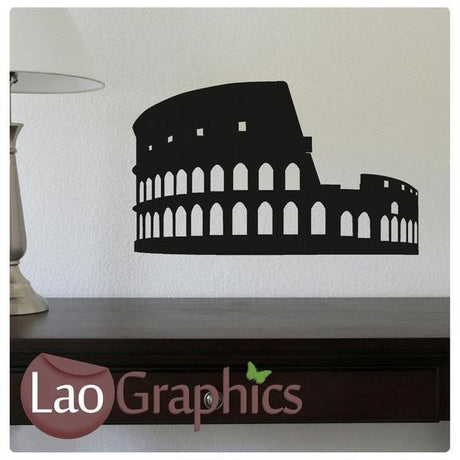 Colliseum World Landmark Wall Stickers Home Decor Roman Art Decals-LaoGraphics