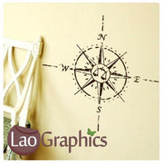 Compass Sailing Navigation Boats & Sailing Wall Stickers Home Decor Art Decals-LaoGraphics
