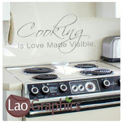 Cooking is Love Made Visible Kitchen Quote Wall Stickers Home Decor Art Decals-LaoGraphics