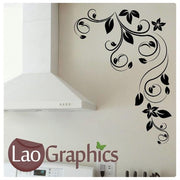 Corner Flowers #5 Large Modern Wall Stickers Home Decor Art Decals UK-LaoGraphics