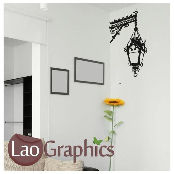 Corner Light Lamp Wall Stickers Home Decor Lamp Art Decals Transfers-LaoGraphics