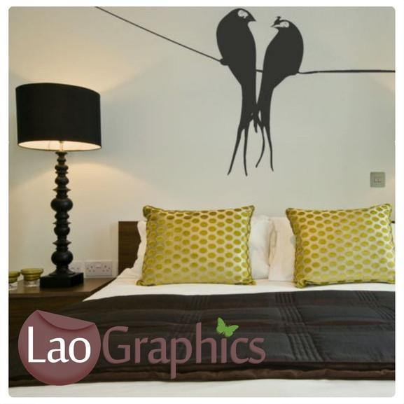 Corner Line Modern Birds Wall Stickers Home Decor Art Decals Transfers-LaoGraphics