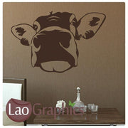 Cow Head Farm Animals Wall Sticker Home Decor Vinyl Art Decal Transfer-LaoGraphics