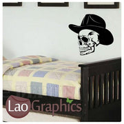 Cowboy Skull & Bones Wall Stickers Home Decor Vinyl Art Decal Transfer-LaoGraphics