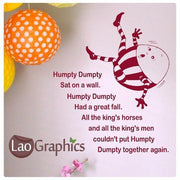 Humpty dumpty Home Decor Art Decals