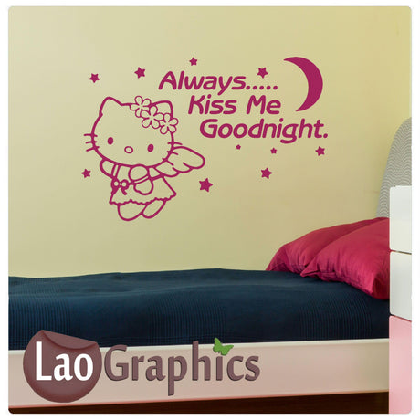 Always kiss me goodnight Home Decor Art Decals