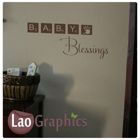 Baby blessings Home Decor Art Decals