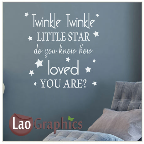 Twinkle twinkle little star Home Decor Art Decals