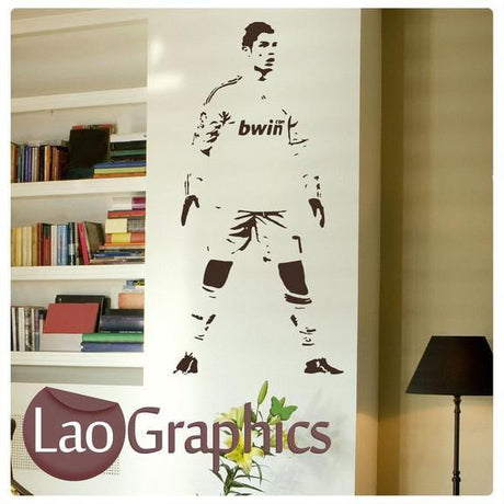 Cristiano Ronaldo Famous Footballer Wall Stickers Home Decor Art Decals-LaoGraphics