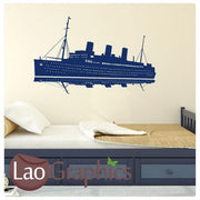 Cruise Ship Boats & Sailing Wall Stickers Home Decor Boys Art Decals-LaoGraphics