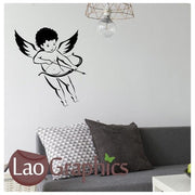 Cupid Fairy Girls Bedroom Wall Stickers Home Decor Art Decals Transfer-LaoGraphics