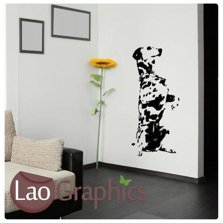 Dalmation Canine Puppy Dog Lovers Wall Stickers Home Decor Art Decals-LaoGraphics