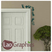 Dangling Mice Mouse Door Home Decor Skirting Wall Stickers Art Decals-LaoGraphics
