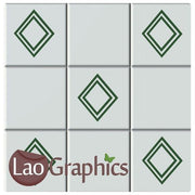Diamond Tile Transfers #4 Home Decor Kitchen / Bathroom Art Decals UK-LaoGraphics