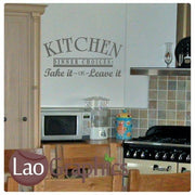 Dinner Choices Take or Leave it Kitchen Quote Wall Stickers Art Decals-LaoGraphics