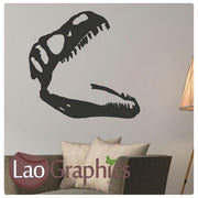 Dinosaur Skull Boys Bedroom Wall Sticker Home Decor Art Decal Transfer-LaoGraphics